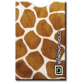 Safari Giraffe - Barevný bezpečnostní obal pro platební kartu