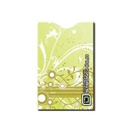 Swirls Pistachio - Barevný bezpečnostní obal pro platební kartu