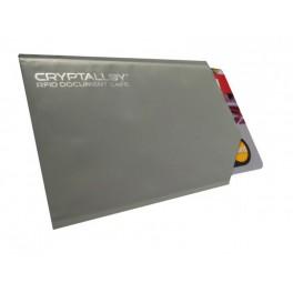 Cryptalloy stíněný ochranný obal pro bezkontaktní platební karty - standard šedý