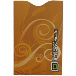 Swirls okrovo žluto světle hnědý s obilím - Barevný bezpečnostní obal pro platební kartu